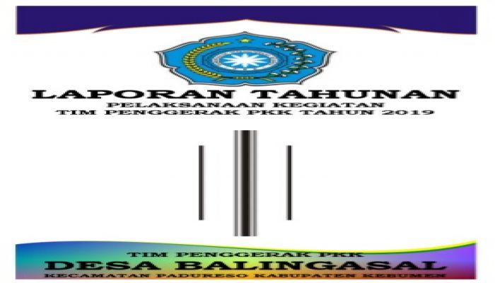 Laporan Tahunan Tp Pkk Tahun 2019 Website Resmi Desa Balingasal Kecamatan Padureso Kabupaten Kebumen